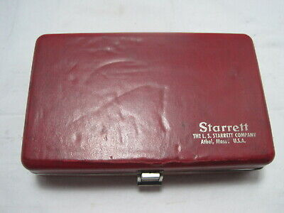 Starrett Model 1015b-441 Thickness Gauge .001 To 1w Case