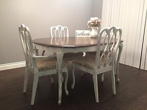 Refreshed Farmhouse Style French Provincial Dining Set