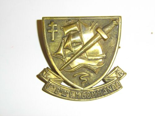 b2391 WW2 Free French 1sBattalion Fusileers Marines Commando 1 Biion FM IR3A118