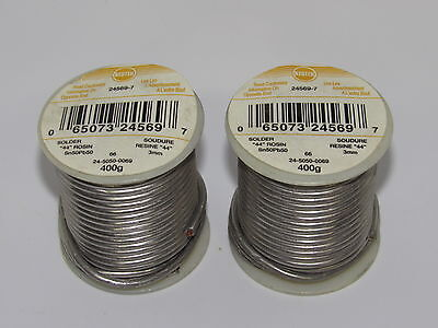 5- Litton-kester 2450500069 Solder 44 Rosin Sn50pb50 Core 66 Flux 3 Wire 400g