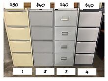 2, 3, 4 Drawer Filing Cabinets with Free Hangers Artarmon Willoughby Area Preview