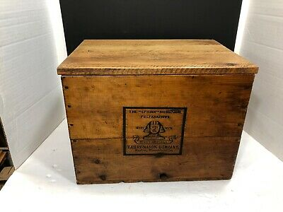 VINTAGE 1920s-30s  WOOD SHIPPING CRATE BOX - THE