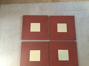 Small mirrors set of 4
