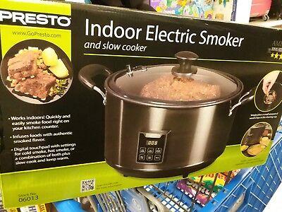 Presto Smoker Slow Cooker Indoor Electric Auto Shut Off Digital Timer $119 - Indoor Smoker Cooker