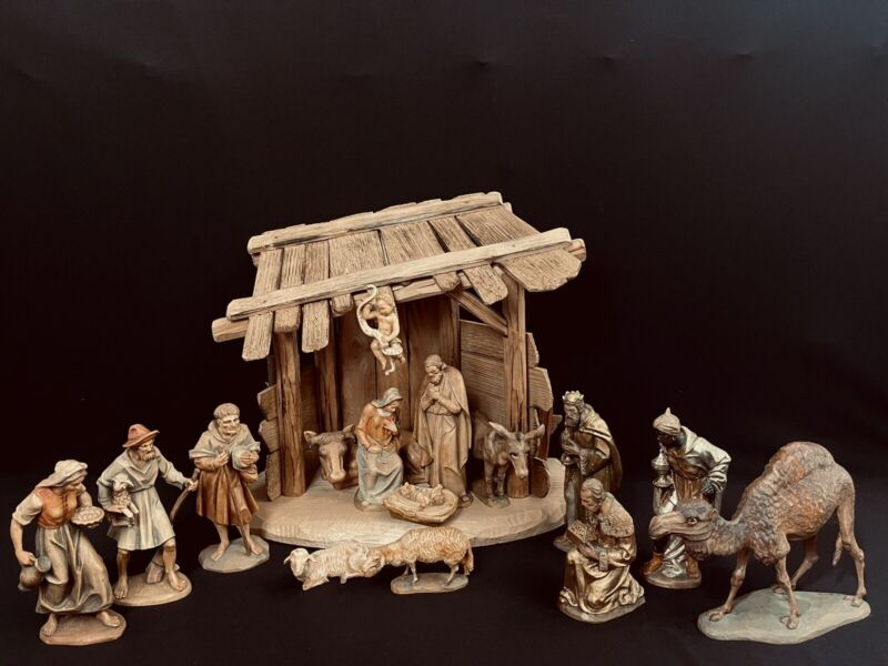"""~*~6""""  ANRI Karl Kuolt Wood-carved Nativity Set From Italy~*~"""