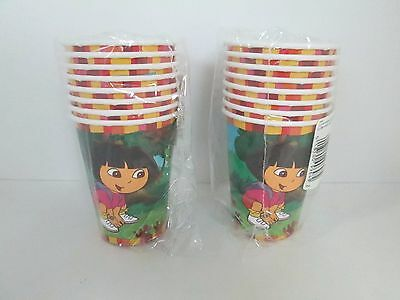 DORA THE EXPLORER HOT / COLD CUPS  8 Pk - LOT OF 2 PACKAGES - PARTY SUPPLIES