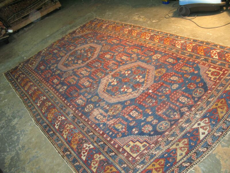 Antique Caucasian Shirvan Hand Knotted Wool Gallery Long Rug 5