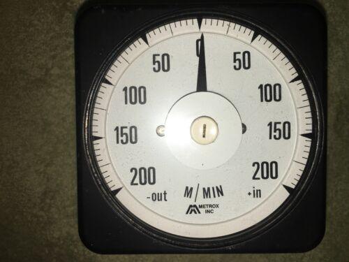 Crompton Instruments Meters per Minute Gauge 073-05 Metrox LTPS 501 Control Box