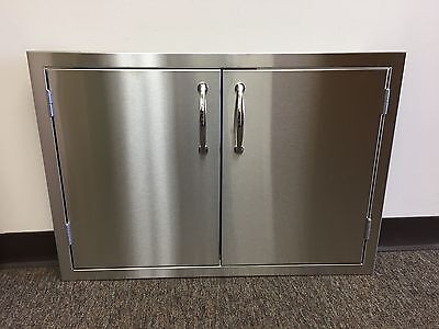 "USA 30"" OUTDOOR KITCHEN / BBQ Isle STAINLESS STEEL DOUBLE ACCESS DOOR 1/2"" LIP"