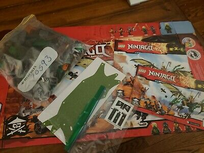 LEGO 70593 The Green NRG Dragon 100% Complete Manual Sticker Sheet and Box