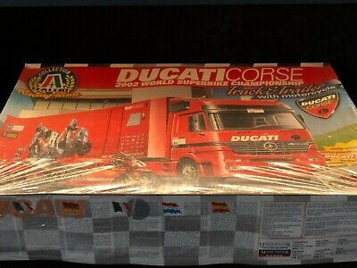 Italeri 1/24 Ducati Corse Racing Team Truck Trailer with Motorcycle Kit 3815