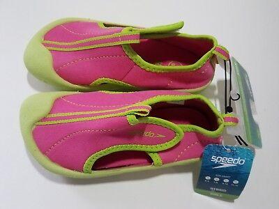 Speedo Toddler Girls Hybrid Water Shoes Hook & Loop Closure - Pink & Green NWT](Green Girls Shoes)