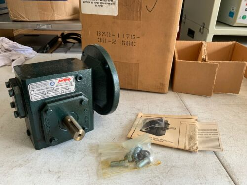 Grove Gear Flexaline BMQ1175 Worm Gear Speed Reducer 56C 30:1 Ratio, NOS