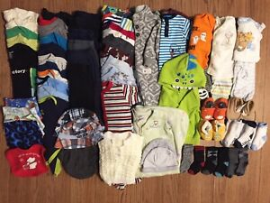 Size 3-6 month baby clothes lot