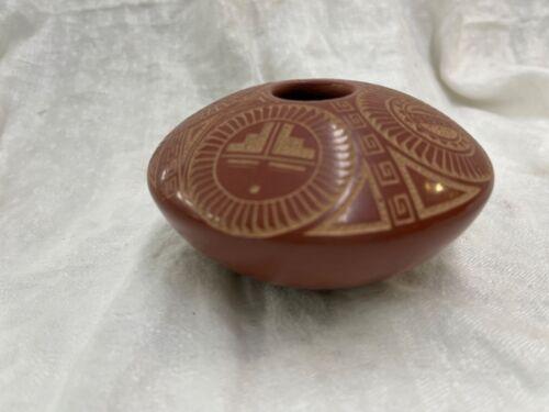 Jemez Pueblo Indian Pottery Vase  Dennis or Glendora Daubs