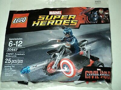 LEGO Captain America's Motorcycle 30447 With Minifigure In Polybag Brand New