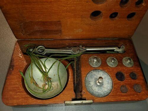 Antique  Precious Metals Diamond Scale, Weight, original box