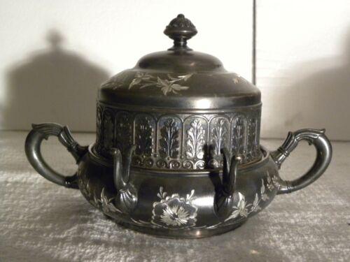Vintage James W. Tufts Quadruple Plate Butter Dish