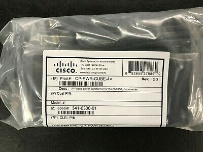 - New Genuine Cisco 8900 9900 IP Phone Power Supply AC Adapter CP-PWR-CUBE-4