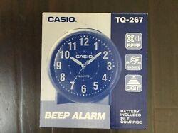 Casio #TQ-267 Round Table Top Alarm Clock