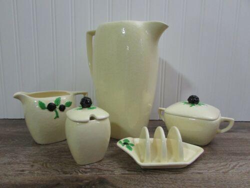 SYLVAC Vintage Cream Pottery Very Beautiful Breakfast Set Made in England