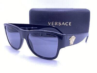VERSACE Sunglasses VE4275 GB1/81 Gloss Black/Gray POLARIZED AUTHENTIC MOD.4275