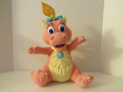"Dragon Tales Babysitting Surprise 12"" CASSIE Pink Plush Playskool 1999"