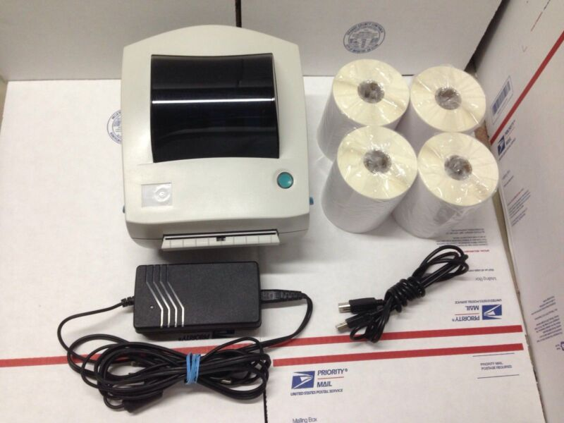 Zebra LP2844 LP 2844 Thermal Label Barcode Printer 1000 labels 4X6 Tech Support