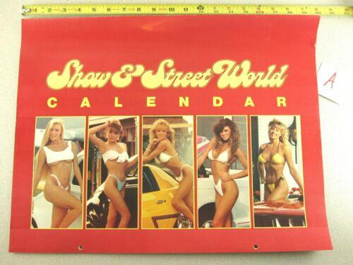 1989 Calendar ISCA SHOW & STREET WORLD Hot Rod Car Sexy Girl KC WINKLER Signed A