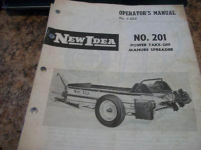 New Idea Operators Manual S-202 No.201 Power Take-off Manure Spreader