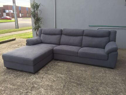 Ex display 3 seater chaise sofa lounge
