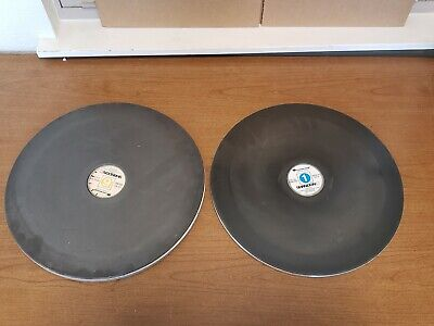 2 Used Lapping Plates 14.5 Diameter Industrial Laboratory Shandon 5 6 And 1