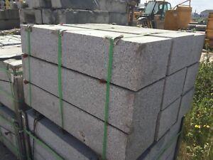 SILVER GREY GRANITE STRAIGHT   KERBS / KERBSTONES / STEPS EDGING 300X150X1000