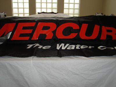 Fishing NEW MERCURY 2 Sided logo flag 2'x6' in size