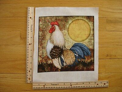 Sunrise Rooster (Bountiful Farm Animal Rooster Sunrise    Cotton Quilt Fabric Block 9