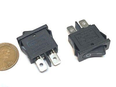 2 Pieces Black Slim Rocker Switch Spst 10a 12v Kcd1-110 3v Latch On Off 2 Pin B8
