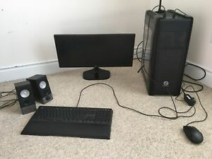 Gaming PC w/ Monitor, Mouse, Keyboard, & Speakers