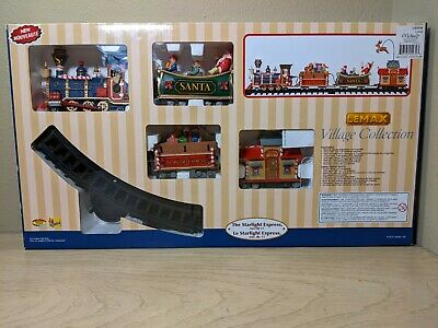 LEMAX Starlight Express Christmas Train Set #04232 2010 Set of 17