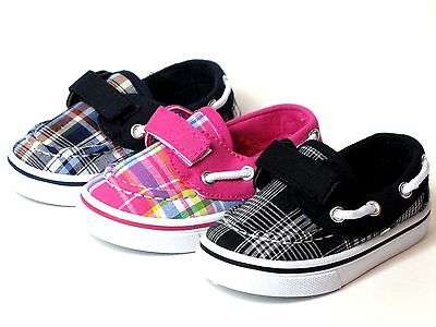- New Baby Toddler Boys Or Girls Casual Plaid Canvas Boat Shoes Loafers  Sneakers
