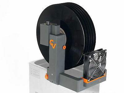 CleanerVinyl Easy6: Ultrasonic Vinyl Record Cleaner for 6 Vinyls w. RPM Control