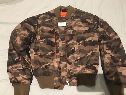 Topshop camo bomber jacket women | Jackets & Coats | Gumtree ...