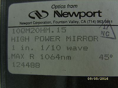 Newport Optics High-energy Laser Mirror 25.4 Mm Dia. 45 1064 Nm 10qm20hm.15