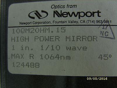Newport Optics High-energy Laser Mirror 25.4 Mm Dia. 45 1064 Nm 10qm20hm.15
