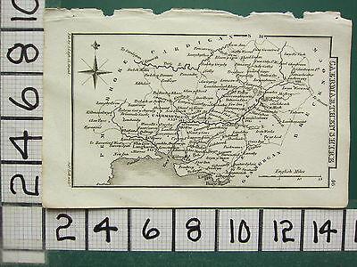c1833 GEORGIAN MAP ~ CAERMARTHENSHIRE ~ LANDOVERY LAUGHARNE KIDWELLY