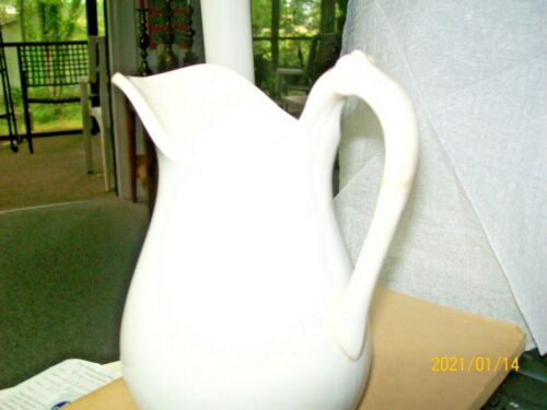 "Antique Ironstone Cream Pitcher ""ROYAL IRONSTONE WARRANTED"" ,RARE, read below"