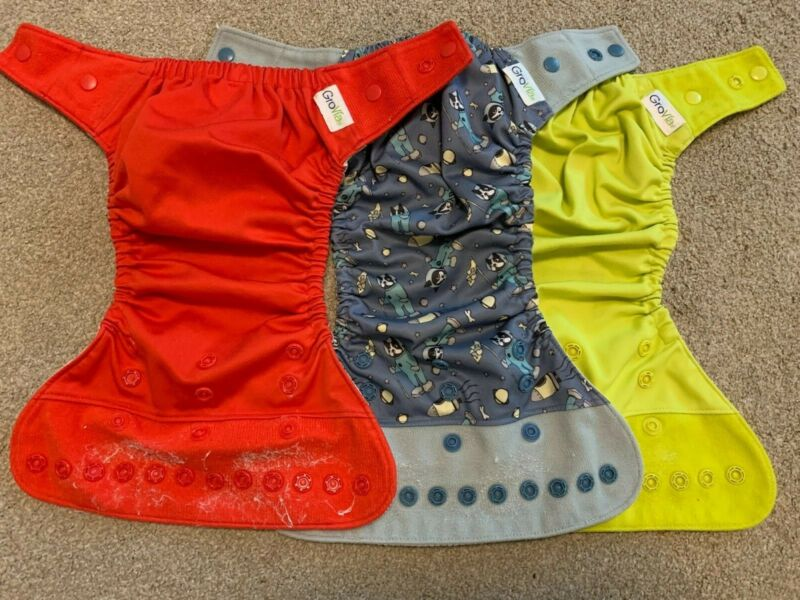 Grovia cloth diapers hybrid shell pre-owned (covers)