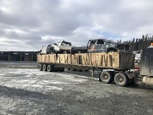 Trailer load of 6.0 L ford 4x4 diesel for parts