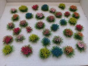 36 Assorted Flowers for Model Railways/Diorama's/Dollhouses