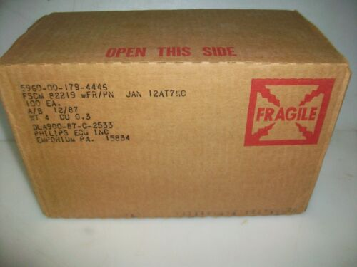 FACTORY CASE OF 100 NOS PHILIPS  JAN  12AT7WC   TUBES