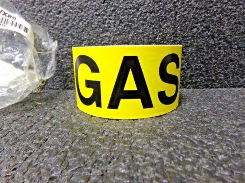 """BRADY GAS WITH FLOW ARROW PIPE MARKERS, 2""""H, 12""""W, PK25 (DC)"""